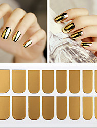 16 Pcs/1set  Hot Style Metal Nail Stick Nail Sticker Decals Nail Polish All Posts