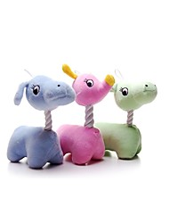 Dog Toy Pet Toys Interactive Deer Cotton Green Blue Pink