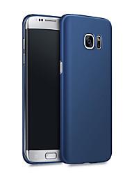 для Samsung Galaxy s7 крайнего случай матового ультра-тонкого ПК случае задней крышка сплошного цвета жесткого Самсунга S8 s7 s6 s6 края плюс