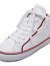 Women's Sneakers Fall Platform Leatherette Casual Flat Heel Platform White