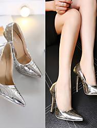 Damen-High Heels-Lässig-PUKomfort-Silber / Gold