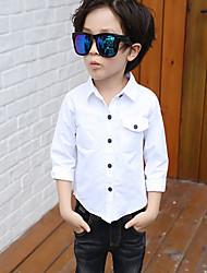 Boy Casual/Daily Solid Shirt,Cotton Fall Long Sleeve Regular