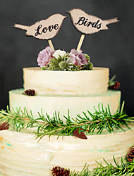 Wood Wedding Decorations-2Piece/Set Non-personalized
