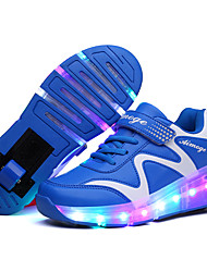 Kid Boy Girl wheely's Roller Shoes / Ultra-light One Wheel Skating LED Light Shoes / Athletic / Casual LED Shoes Blue Pink