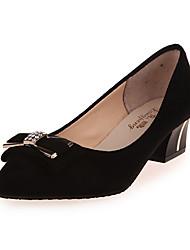 Women's Heels Fall Winter Comfort PU Casual Low Heel Black Red Gray Other