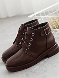 Women's Boots Comfort Microfibre Casual Black Coffee