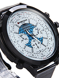 Hombre Reloj Militar Reloj de Vestir Reloj de Moda Reloj de Pulsera Cuarzo Punk Colorido Esfera Grande Acero Inoxidable BandaCosecha