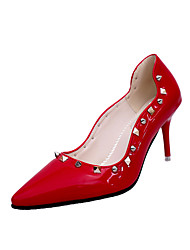 Women's Heels Fall Winter Comfort PU Casual Low Heel Black Red White Other