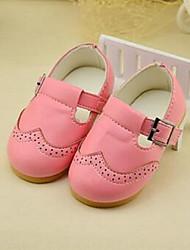 Mädchen Baby-Flache Schuhe-Lässig-PUKomfort-Schwarz Rosa