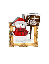3D Merry Christmas Hole PVC  Decorative Skin Wall Stickers  for Bedroom