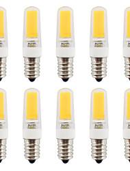 2W E14 LED à Double Broches T COB 270-290 lm Blanc Chaud / Blanc Froid Gradable / Etanches V 10 pièces