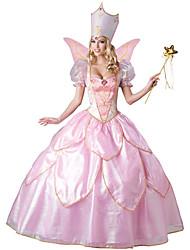 Princesse Conte de Fée Fête / Célébration Déguisement d'Halloween Rose Couleur Pleine Dentelle Robe ChapeauHalloween Noël Carnaval Le