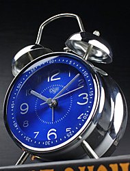 Alarm Clock with Matel Case Modern Style Blue Color Silent Movment