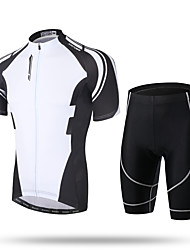 XINTOWN Cycling Jersey with Shorts Men's Short Sleeves Bike Padded Shorts/Chamois Shorts Pants/Trousers/Overtrousers Zip Top Jersey Tops