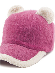 New Lady Cat Ears Rabbit Fur Baseball Cap Cute Fashion Autumn And Winter Hats
