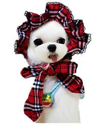 Gatos / Cães Bandanas e Chapéus Vermelho Roupas para Cães Inverno / Verão / Primavera/Outono Riscas Casual