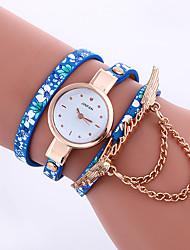 Mulheres Único Criativo relógio Chinês Quartzo PU Banda Elegantes Preta Azul Cinza Roxa