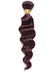 100g/pc Deep Wave 10-14Inch Color #99J Red Wine Human Hair Weaves