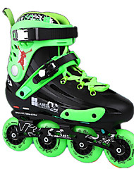 Unisex Adults' Inline Skates Anti-Slip Cushioning Adjustable Black/Purple/Green