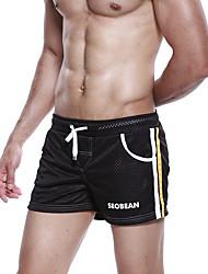 Corrida Shorts Homens Respirável / Macio / Confortável Náilon Chinês Corridas / Esportes Relaxantes / Basquete / Corrida Stretchy Solto