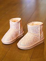 Girls' Boots Comfort Glitter Casual Black Purple Blushing Pink