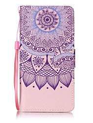 For Huawei P8lite P9 P9Lite Case Cover Lotus Pattern Painting Card Stent PU Leather