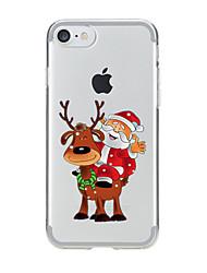 Per Transparente / Fantasia/disegno Custodia Custodia posteriore Custodia Natale Morbido TPU per AppleiPhone 7 Plus / iPhone 7 / iPhone