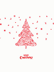 Wall Stickers Wall Decals Style Merry Christmas Tree PVC Wall Stickers