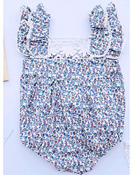 Baby Casual/Daily Floral One-Pieces,Cotton Summer / Spring / Fall Sleeveless