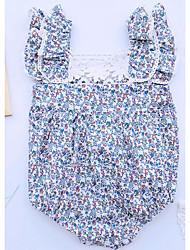Une-Pièce bébé Décontracté / Quotidien Fleur Coton Eté / Automne / Printemps Sans Manches