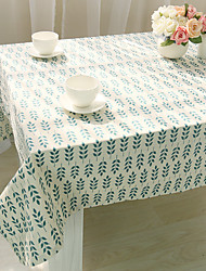 Square Patterned Table Cloth , Linen Material Hotel Dining Table / Home Decoration