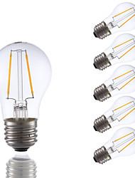 2W Ampoules à Filament LED A15 2 COB 200 lm Blanc Chaud Gradable AC 110-130 V 6 pièces
