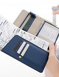Travel Travel Wallet Passport Holder & ID Holder Travel Storage Waterproof Dust Proof Portable PU Leather