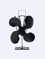 отдельно стоящий 4-лопастной тепло работает экологичный классическая плита вентилятор камин вентилятор 150 CFM макс