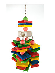 Portable Wood Multi-Color Perches & Ladders1PC