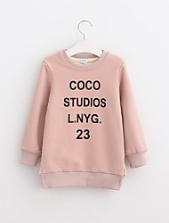 Girl Casual/Daily Solid Hoodie & Sweatshirt,Cotton Winter Long Sleeve