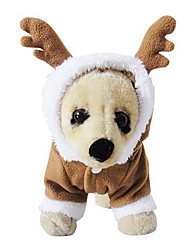 Cat / Dog Costume / Hoodie Coffee Dog Clothes Winter Reindeer Cute / Cosplay / Christmas