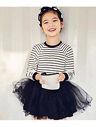 Girl's Casual/Daily / Sports Solid Dress,Cotton / Mesh Winter / Fall Long Sleeve