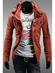 Men's Casual/Daily / Sports Simple / Active Jackets,Solid Stand Long Sleeve Fall / WinterBlue / Red / Black / Brown / Green / Orange /