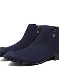 Men's Boots Comfort Suede Casual Black / Blue