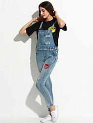 Damen Jumpsuits - Einfach Ärmellos Baumwolle Mikro-elastisch