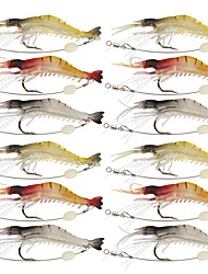 12Pcs Soft Lures Shrimp Bait Set Freshwater/ Saltwater Trout Bass Salmon 12pcs
