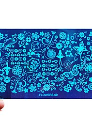 1pcs Flowers Nail Art Image Stamping Plates Stainless Manicure Tools