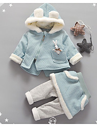 Girl Casual/Daily Solid Sets,Cotton Winter / Fall Clothing Set