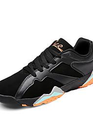 Femme-Bureau & Travail Décontracté Sport-Noir Multi-couleur Noir et blancConfort-Chaussures d'Athlétisme-Cuir