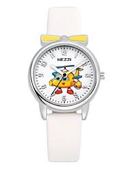 KEZZI Infantil Relógio de Moda Relógio de Pulso Relógio Casual Quartzo Quartzo Japonês PU Banda Desenhos Animados CasualBranco Azul