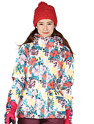 Ski Wear Ski/Snowboard Jackets Unisex Winter Wear Polyester Stripe Floral / Botanical Winter ClothingWaterproof Breathable Thermal / Warm