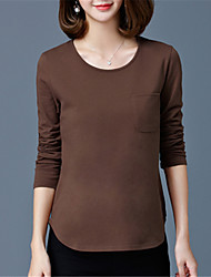 Fashion Long Sleeves Round Neck Autumn And Winter Models Slim Wild Leisure T-shirt