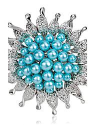 aleación de la manera / broches de la flor de la perla del partido del perno de las mujeres / / joyería de lujo de la boda al día 1pc