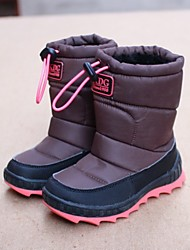 Boy's Boots Winter Comfort Customized Materials Casual Flat Heel Black Khaki Royal Blue Coffee